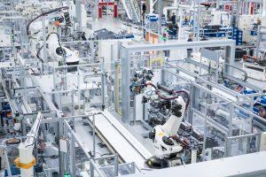 Die Komponentenfertigung  für Batterien (Halle23) im VW-Werk 2 am Freitag (15.12.2017) in der  in Braunschweig.